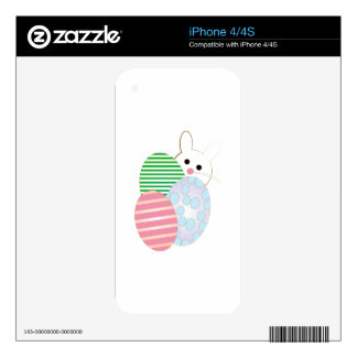 Easter Egg Bunny Skin For iPhone 4S