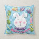 Easter Egg Bunny Throw Pillows