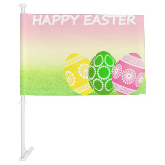 Easter Egg Car Flag