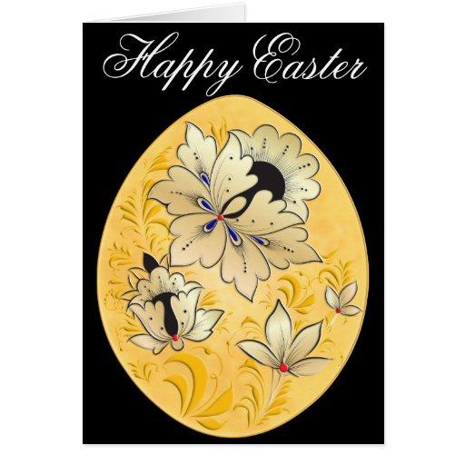 Easter Egg Card 6 - Russian Folk Art