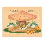 Easter Egg Carousel Postcard
