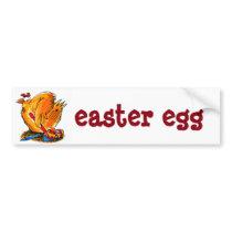 easter egg cartoon wide sticker