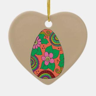 Easter Egg Ceramic Ornament