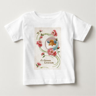 Easter Egg Chick Pink Daisy Baby T-Shirt