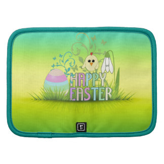 Easter egg Chick Snowdrop Colourful background Planners