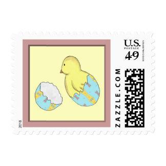 Easter Egg Chick Surprise Postage Stamp