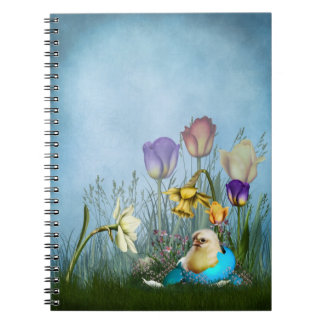 Easter Egg Chicken Spiral Notebook