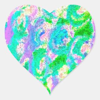 Easter egg colorful design heart sticker