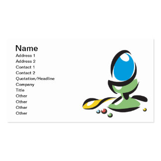 Easter Egg Coloring Business Card Template