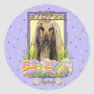 Easter Egg Cookies - Afghan Classic Round Sticker
