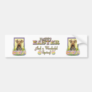 Easter Egg Cookies - Airedale Bumper Sticker