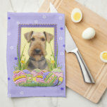Easter Egg Cookies - Airedale Hand Towel