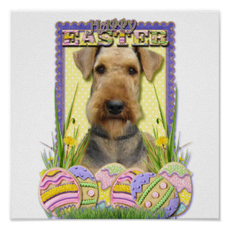 Easter Egg Cookies - Airedale Poster