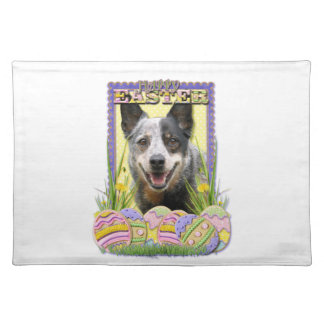 Easter Egg Cookies - Australian Cattle Dog Cloth Placemat