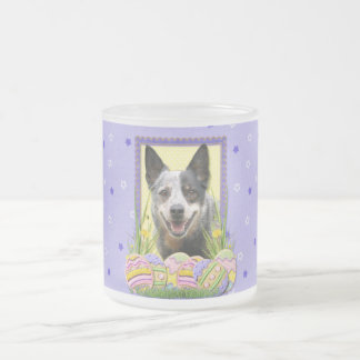 Easter Egg Cookies - Australian Cattle Dog Frosted Glass Coffee Mug