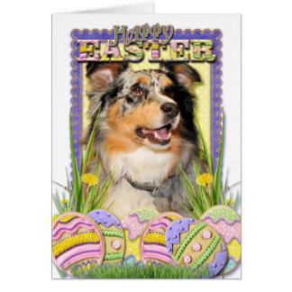 Easter Egg Cookies - Australian Shepherd Card