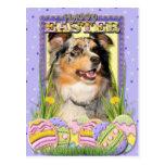 Easter Egg Cookies - Australian Shepherd Postcard