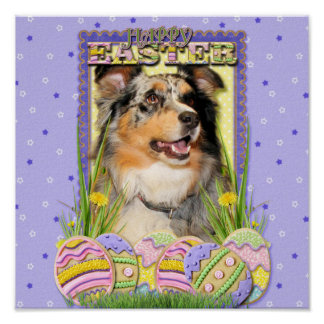 Easter Egg Cookies - Australian Shepherd Print
