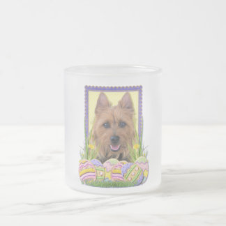 Easter Egg Cookies - Australian Terrier Frosted Glass Coffee Mug