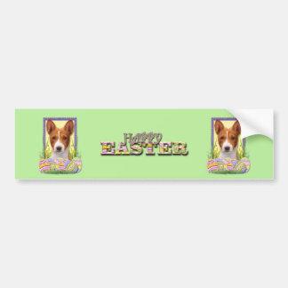 Easter Egg Cookies - Basenji Bumper Sticker