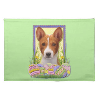 Easter Egg Cookies - Basenji Cloth Placemat