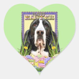 Easter Egg Cookies - Basset Hound - Jasmine Heart Sticker