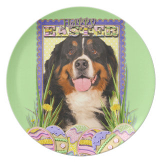 Easter Egg Cookies - Bernese Mountain Dog Plate