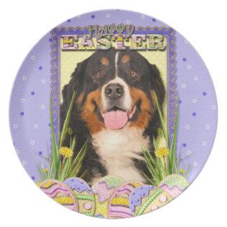 Easter Egg Cookies - Bernese Mountain Dog Dinner Plates