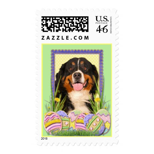 Easter Egg Cookies - Bernese Mountain Dog Stamp