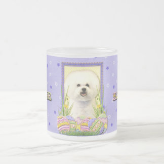 Easter Egg Cookies - Bichon Frise Frosted Glass Coffee Mug