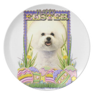 Easter Egg Cookies - Bichon Frise Dinner Plate