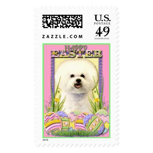 Easter Egg Cookies - Bichon Frise Postage Stamp