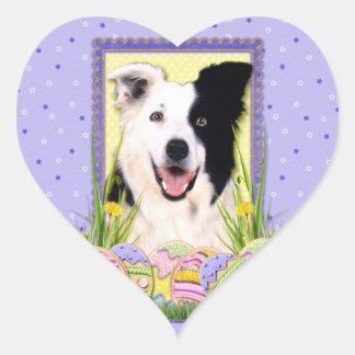 Easter Egg Cookies - Border Collie Heart Sticker