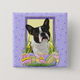 Easter Egg Cookies - Boston Terrier Button