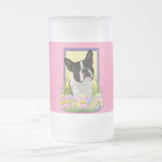 Easter Egg Cookies - Boston Terrier Frosted Glass Beer Mug