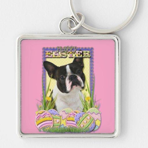 Easter Egg Cookies - Boston Terrier Keychain