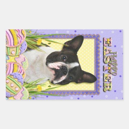 Easter Egg Cookies - Boston Terrier Rectangular Sticker