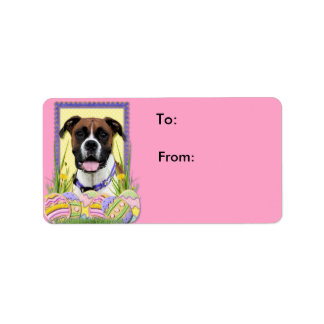 Easter Egg Cookies - Boxer Address Label