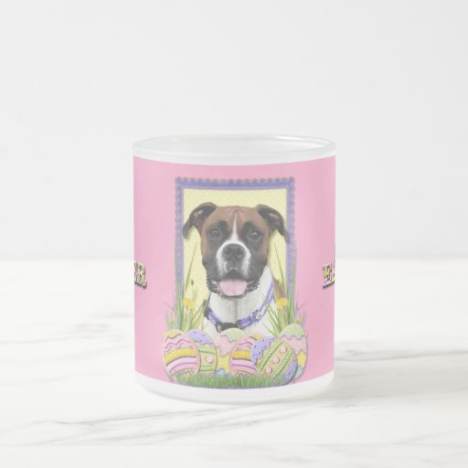 Easter Egg Cookies - Boxer 10 Oz Frosted Glass Coffee Mug