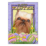 Easter Egg Cookies - Brussels Griffon Card