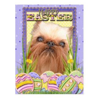 Easter Egg Cookies - Brussels Griffon Postcard