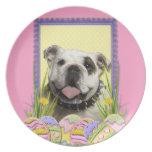 Easter Egg Cookies - Bulldog Dinner Plate