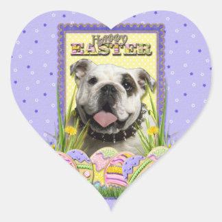 Easter Egg Cookies - Bulldog Heart Sticker