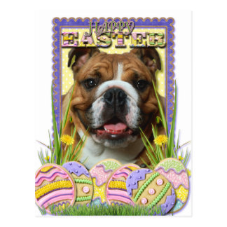 Easter Egg Cookies - Bulldog Postcard