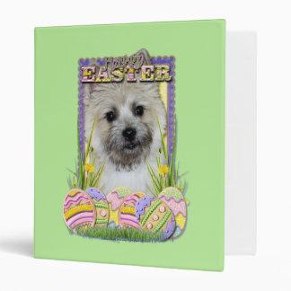 Easter Egg Cookies - Cairn Terrier 3 Ring Binders