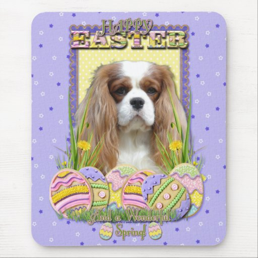 Easter Egg Cookies - Cavalier - Blenheim Mouse Pad