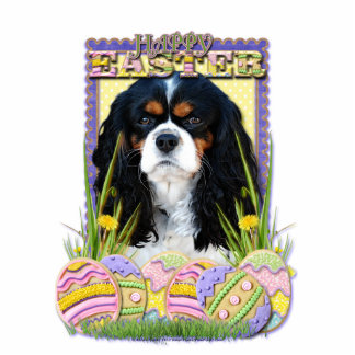 Easter Egg Cookies - Cavalier - Tri-color Standing Photo Sculpture
