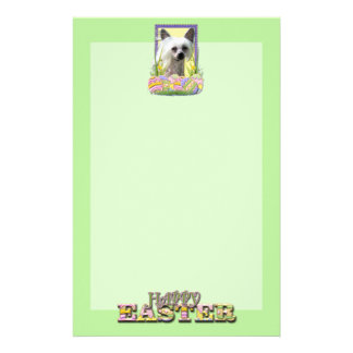 Easter Egg Cookies - Chinese Crested Stationery Paper