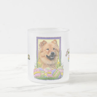 Easter Egg Cookies - Chow Chow Frosted Glass Coffee Mug