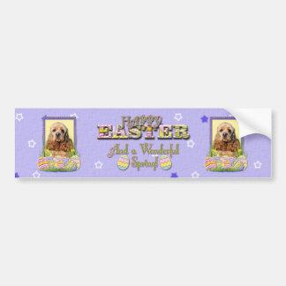 Easter Egg Cookies - Cocker Spaniel Bumper Sticker
